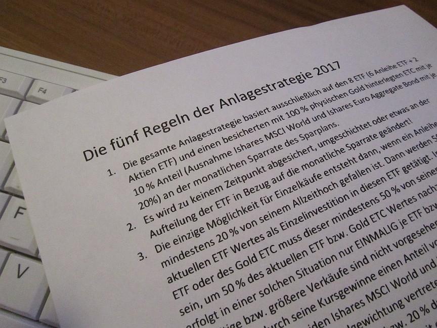 Mein konservatives und langfristiges ETF Strategie Depot mit Sparplan