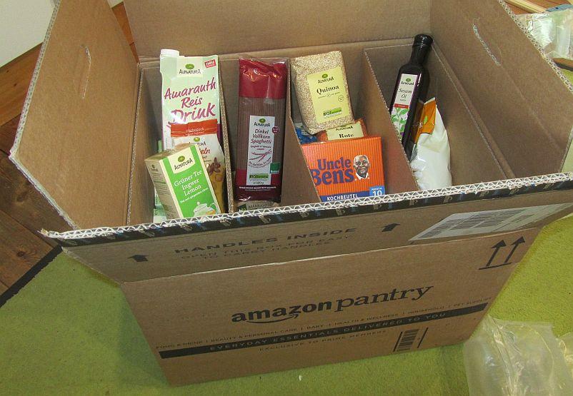 Die Amazon Pantry Box im Test, wie gut ist das Amazon Angebot für alltäglich genutzte Standard-Lebensmittel im Vergleich zum stationären Einzelhandel wirklich?