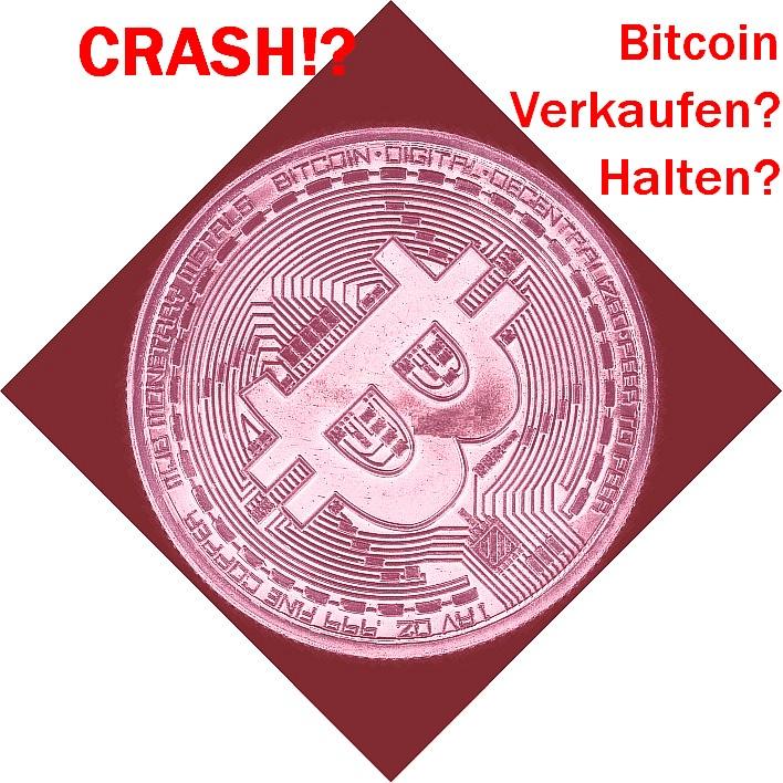 Der große Bitcoin Crash? Bitcoins verkaufen oder halten, warum Verluste von über 50 Prozent sehr wahrscheinlich sind