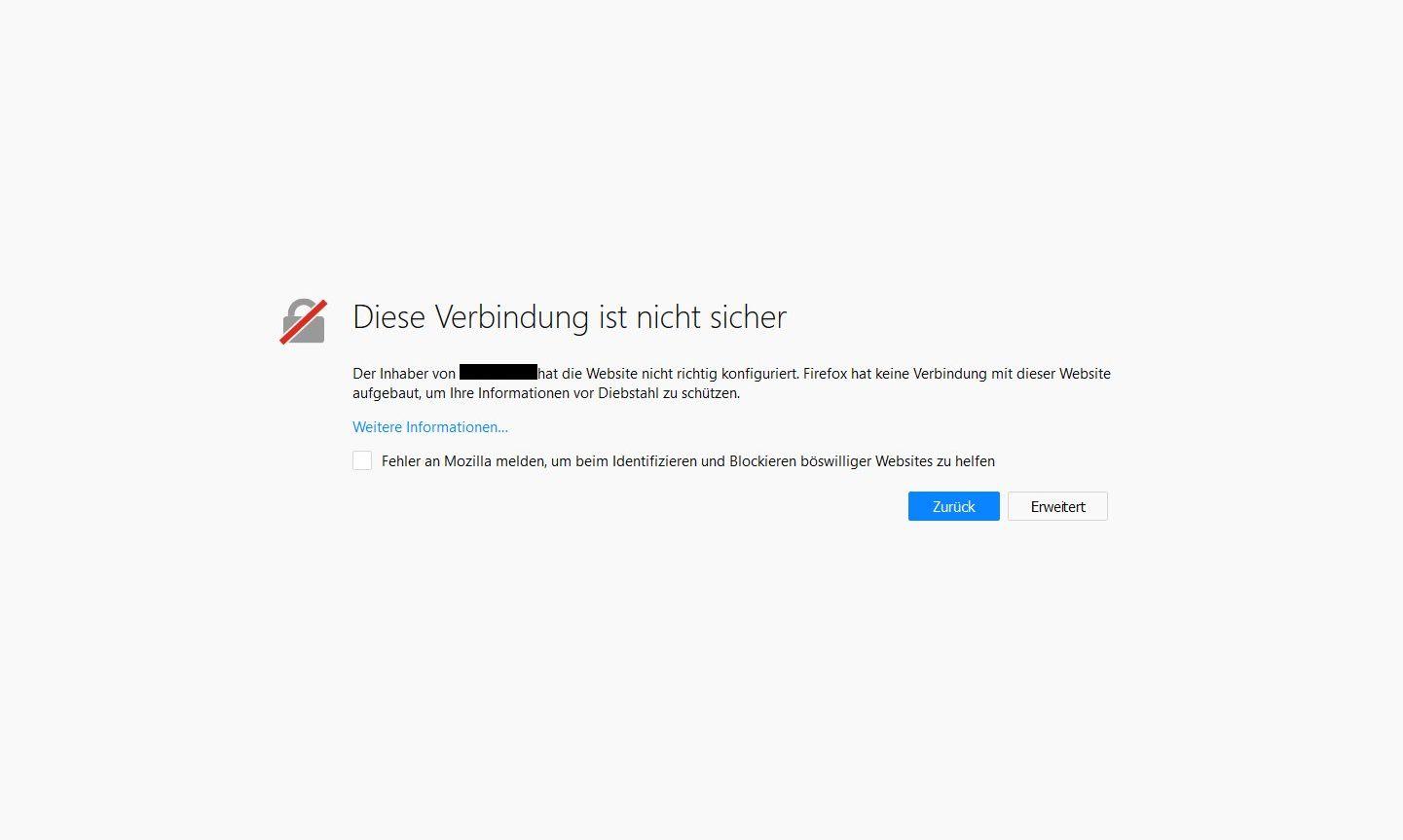 """Meldung: """"Diese Verbindung ist nicht sicher"""" – Was bedeutet dieser Hinweis, wie kann ich ihn deaktivieren und ist eine betroffene Webseite gefährlich im Sinne von Viren und anderer Schadsoftware?"""