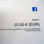 """Facebook Rechnung - Die Umsatzsteuer als Vorsteuer zurückholen und in der Umsatzsteuervoranmeldung über """"Reverse Charge"""" Verfahren eintragen"""